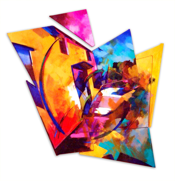 Towards  1998 108x150cm wood canvas oil paint