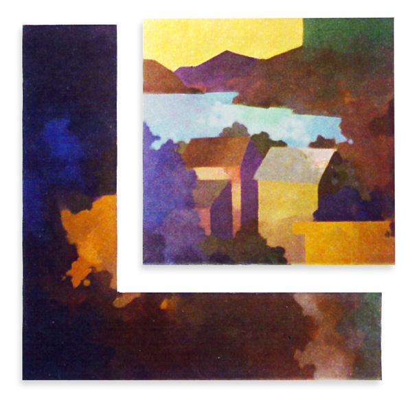 Ko shan Tseun. 1977 .100x90cm Wood canvas  acrylic paint
