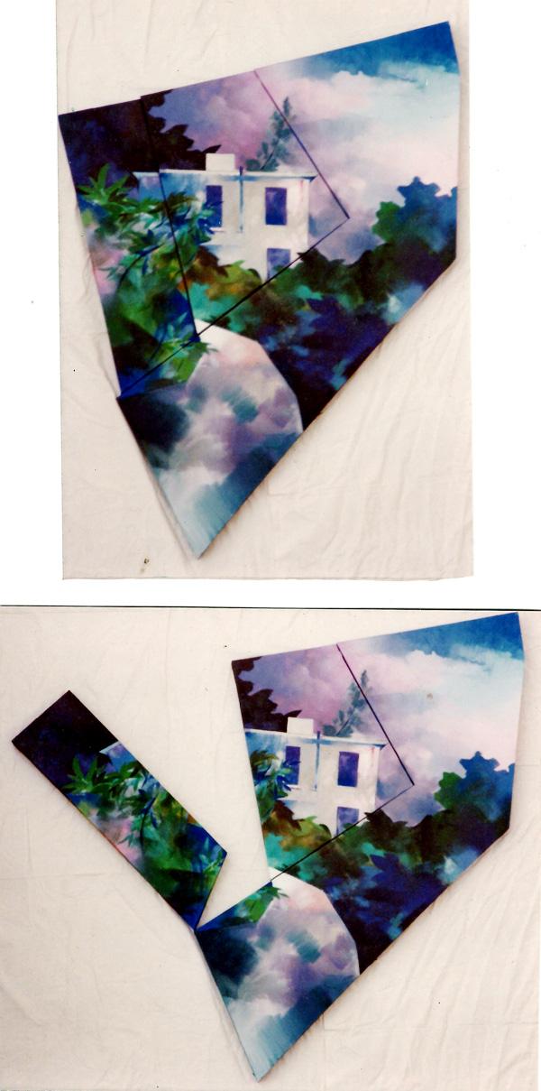 Ghost House.1979.110x90cm.wood canvas acrylic paint.