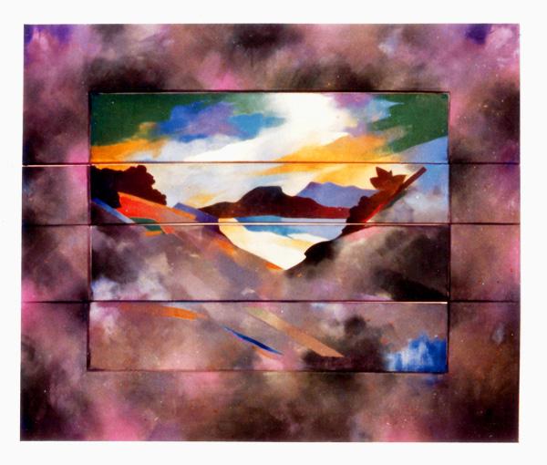 Road to Chima wan. 1978 wood canvas Acrylic paint.