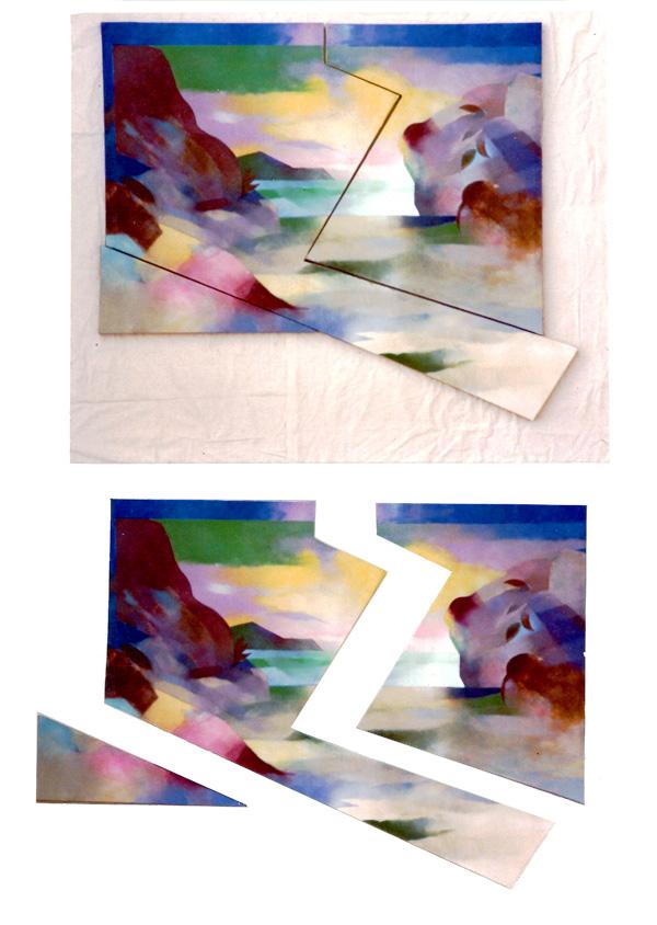 Tai Chi place. 1979 140x110cm.wood canvas Acrylic paint